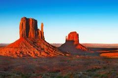 Paisagem do deserto do por do sol, sudoeste americano imagens de stock royalty free