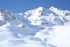 Paisagem do dia do sol do inverno Fotos de Stock Royalty Free