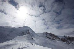 Paisagem do esqui Imagens de Stock Royalty Free