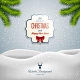 Paisagem do Feliz Natal Imagens de Stock Royalty Free