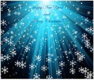 Paisagem do Feliz Natal Ano novo feliz do vetor ilustração do vetor