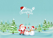 Paisagem do Feliz Natal Vetor Foto de Stock Royalty Free