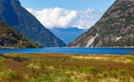 Paisagem do Fjord Foto de Stock Royalty Free