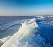 Paisagem do gelo Foto de Stock