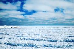 Paisagem do gelo Imagens de Stock
