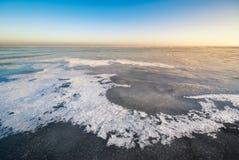 Paisagem do gelo do inverno Fotos de Stock Royalty Free
