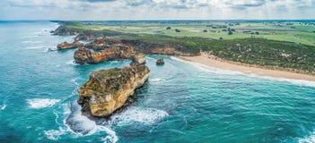 Paisagem do grande litoral da estrada do oceano imagens de stock royalty free