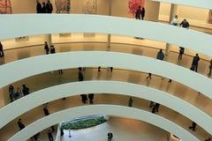 Paisagem do interior do museu de Guggenheim Fotos de Stock