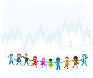 Paisagem do inverno ilustração royalty free