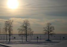 Praia do inverno da paisagem Foto de Stock Royalty Free