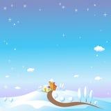 Paisagem do inverno com neve ilustração do vetor