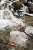 Paisagem do inverno da cascata congelada Fotografia de Stock Royalty Free