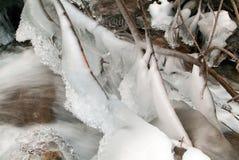 Paisagem do inverno da cascata congelada Foto de Stock