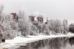 Paisagem do inverno da cidade Imagem de Stock Royalty Free