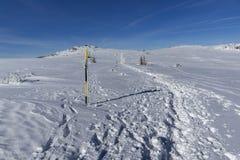 Paisagem do inverno da montanha de Vitosha, Sofia City Region, Bulg?ria imagem de stock royalty free