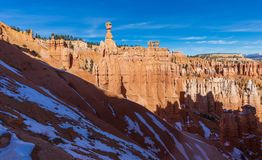 Paisagem do inverno de Bryce Canyon National Park Utah Fotos de Stock