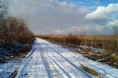 Paisagem do inverno de Sibéria imagem de stock
