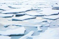 Paisagem do inverno do fluxo do gelo Fotografia de Stock