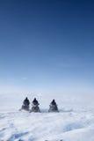 Paisagem do inverno do Snowmobile imagem de stock royalty free