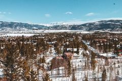 Paisagem do inverno em Colorado fotografia de stock