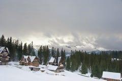 Paisagem do inverno em montanhas de Tatra Imagem de Stock