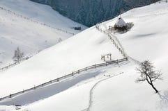 Paisagem do inverno em Romania Foto de Stock