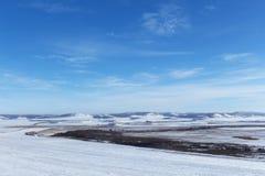 Paisagem do inverno em Sibéria Fotos de Stock