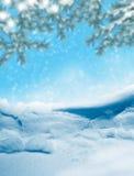 Paisagem do inverno Fundo neve Fotografia de Stock Royalty Free