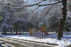 Paisagem do inverno na cidade Imagem de Stock