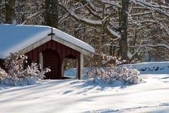 Paisagem do inverno na costa oeste na Suécia foto de stock royalty free