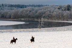 Paisagem do inverno na costa oeste na Suécia imagens de stock