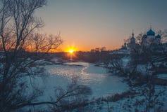 Paisagem do inverno na natureza da neve Foto de Stock Royalty Free