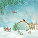 Paisagem do inverno do Natal Fotos de Stock