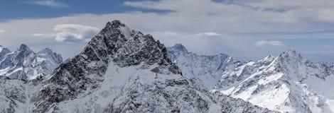 Paisagem do inverno nos alpes Imagens de Stock
