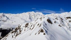 Paisagem do inverno nos cumes de Lepontine Imagens de Stock