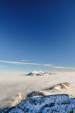 Paisagem do inverno perto de Garmisch, Zugspitze, Alemanha Imagens de Stock Royalty Free