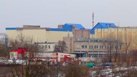 Paisagem do inverno Zona industrial da cidade cityscape filme