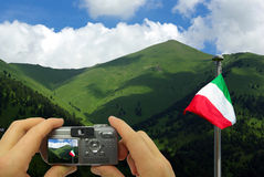 Paisagem do italiano do montagem da foto Imagem de Stock Royalty Free