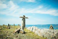 Paisagem do lago Baikal das pedras Fotografia de Stock Royalty Free