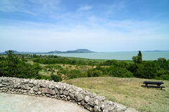Paisagem do lago Balaton Foto de Stock Royalty Free