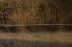 Paisagem do lago, Corbeanca, o Condado de Ilfov, Romênia Fotografia de Stock