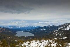 Paisagem do lago Donner fotografia de stock