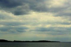 Paisagem do lago Miedwie, Stargard, Polônia foto de stock royalty free