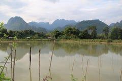 Paisagem do Lao foto de stock royalty free