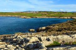 Paisagem do litoral de Cantábria Fotografia de Stock