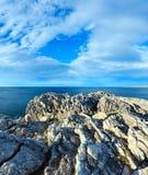 Paisagem do litoral de Cantábria Foto de Stock Royalty Free