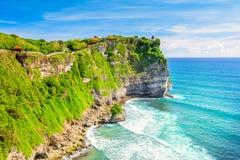 Paisagem do lugar da costa do oceano, o colorido e o bonito imagens de stock