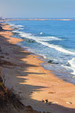 Paisagem do mar da manhã em Israel, Ashkelon Fotos de Stock Royalty Free