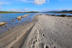 Paisagem do mar do inverno Imagens de Stock Royalty Free