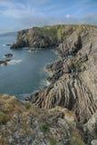 Paisagem do mar dos penhascos, perto de Eyemouth, de Northumberland e das beiras escocesas Imagem de Stock Royalty Free